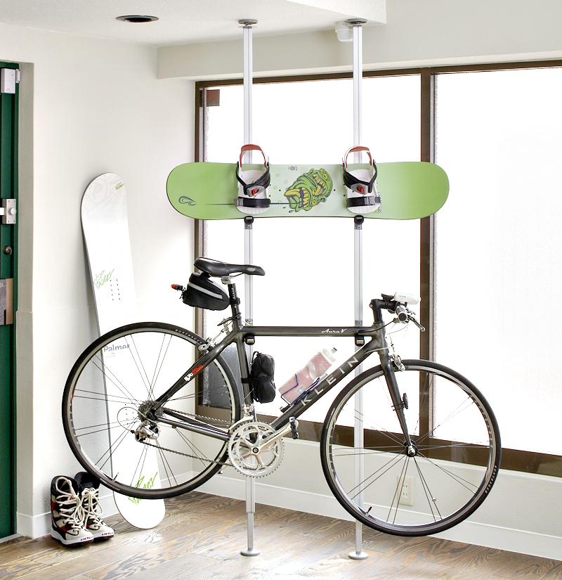 自転車用突っ張りポールハンガー